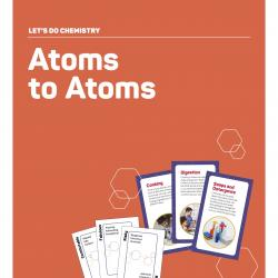 Table sign for Atoms to Atoms card game