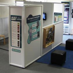 A broad view of the NanoLab exhibit