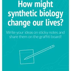 How might synthetic biology change our lives? graffiti wall poster image