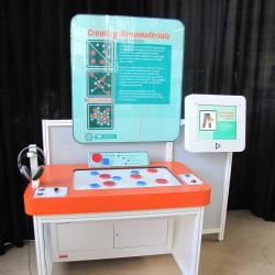 Creating Nanomaterials exhibit as viewed from the front