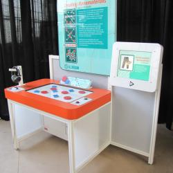 Creating Nanomaterials exhibit as viewed from the right