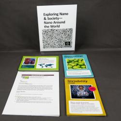Nano Around The World  activity components including signs, activity materials and guides.