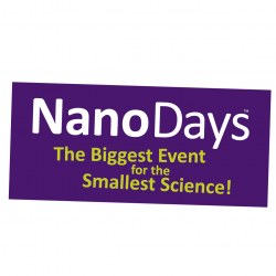NanoDays logo - the Biggest Event for the Smallest Science