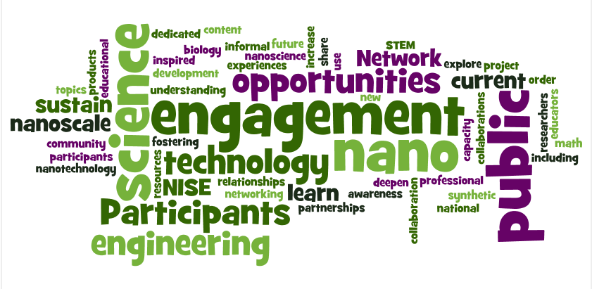 NISE Network 2015 Network-Wide Meeting wordle of meeting goals